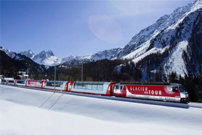 First Class Glacier Express at Christmas