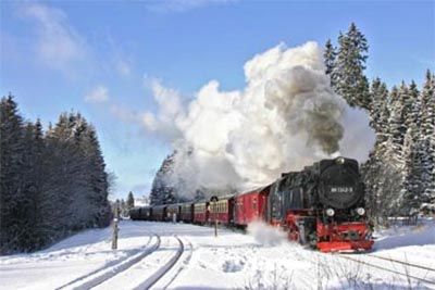 The Harz Mountains in Winter